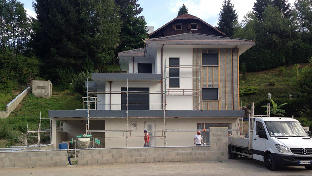 Construction d'une maison contemporaine à Ugine, Savoie