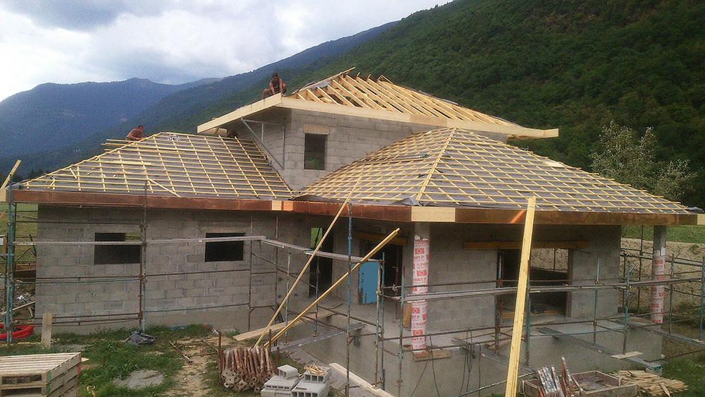 Construction d'une maison tradistionnelle à La Bathie (Savoie) par MS Habitat