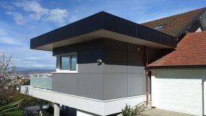 Extension de maison avec toit plat à Annecy-le-vieux, Haute-Savoie