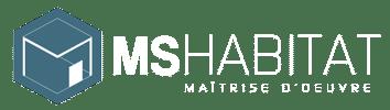 Logo MS Habitat Blanc