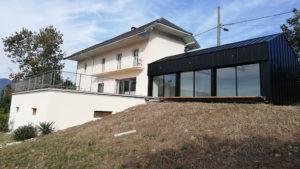 Extension de maison en structure métallique à Aix-les-Bains, Savoie